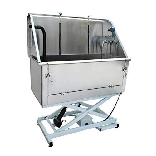 Pedigroom - Bañera eléctrica para Perros, Profesional, Grande, Acero Inoxidable