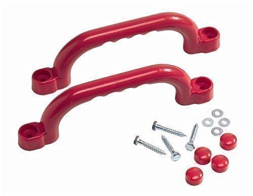 Loggyland Haltegriffe Handgriff für Spielanlagen Spielturm Set mit 2 Stück rot