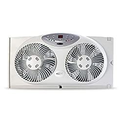 Bionaire Window Fan with Twin Reversible Airflow Blades and Remote Control