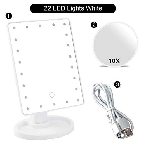 Clkdasjd Miroir de poche lumineux 22 LED