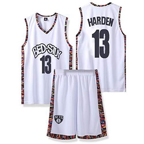 NQFL James Harden # 13 Jerseys de Baloncesto Juvenil Camisetas Retro de los Hombres Sudadera Uniforme de Equipo Memorial Regalo + Pulsera (Color : C, Size : XS)