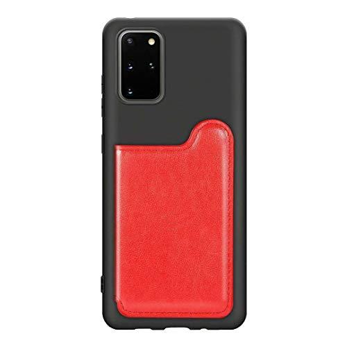 Luckyandery - Funda de piel sintética con tapa para Galaxy S20 Plus, diseño de piel sintética, color rojo