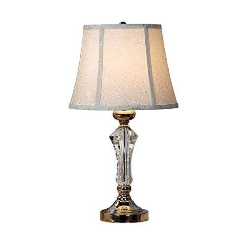 Lámparas de Escritorio Lámparas de Mesa y Mesilla Lámpara de mesa de cristal de estilo americano Lámpara de cabecera de la sala de estar Mesa de estudio lámpara de tela lámpara de escritorio E27 Ilumi