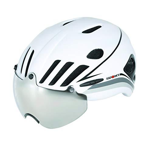 Suomy Casco Strada Vision blanco/negro, talla M (cascos MTB y carretera)
