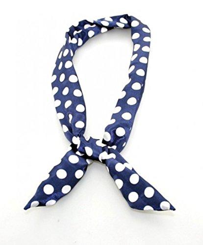 Blaues Retro-Haarband Polka Dot -50er-Jahre, Fifties