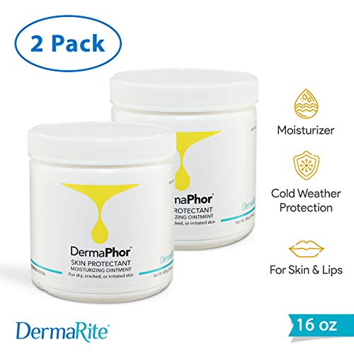 DermaPhor Skin Protectant Moisturizing Ointment - 2 Pack, 16 Oz - for Dry, Cracked or Irritated Skin - Heals Minor Cuts and Wounds - Fragrance Free
