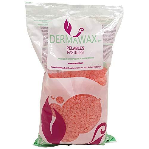 Perles de cire Pelables EXTRA QUALITE Crystal Orange hypoallergénique sans colophane Premium de 800 grammes sans bandes de cire pour l'épilation, cire pour le corps entier à la cire brésilienne jambes