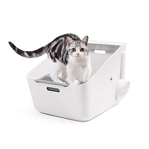 GCSEY Haustierkatzentoilette - Vollautomatische Katzentoilette Mit Induktions-Deodorant, Katzen-WC-Trainingskit, Bettpfannen Zur Reinigung Von Haustiergerüchen