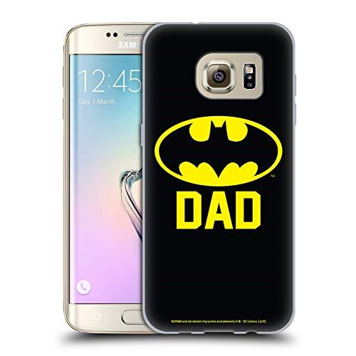 Head Case Designs Offizielle Batman DC Comics Batdad Logos Soft Gel Huelle kompatibel mit Samsung Galaxy S7 Edge