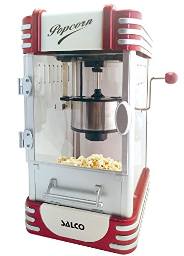 Salco Popcorn Maker, Popcorn Maschine im Retro Design, SNP-17, rot