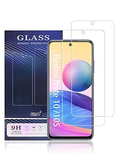 UNO' Protector pantalla cristal templado 2 Unidades compatible con Xiaomi Redmi Note 10, Note 10S, Note 10 5G, Vidrio Templado Ultra Resistent Sin Burbujas, 9H, Antiarañazos.