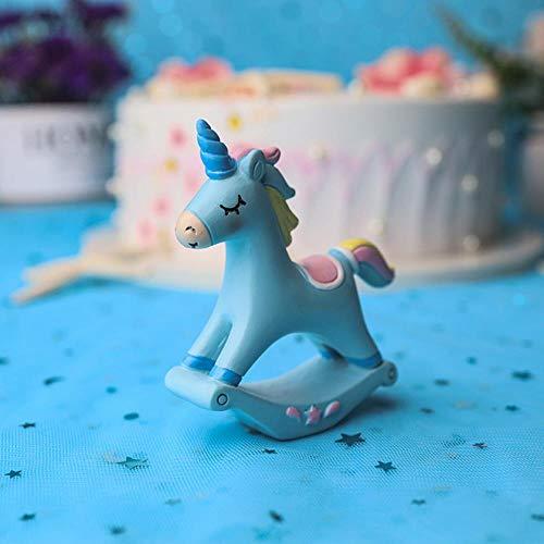 3 Stijl Eenhoorn Figurine, Mini Hars Eenhoorn Taart Topper voor Baby Douche Kinderen Verjaardag Party Bureau Decoratie benodigdheden
