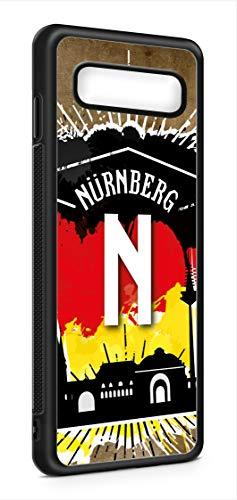 aina Kompatibel mit Samsung Galaxy S10e Silikon Handyhülle Flexibles Slim Case Cover Nürnberg Motiv Bild Schwarz