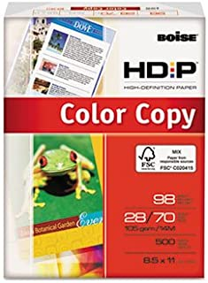HD:P Color Copy Paper, 98 Brightness, 28lb, 8-1/2 x 11, White, 500 Sheets/Ream