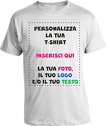 T-Shirt Personalizzata Uomo Maglietta Personalizzabile Personalizza la Tua t-Shirt con Foto, Logo e/o Testo