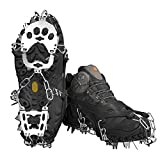 Voroar Crampons Spikes for Boots and Shoes, Footwear Ice Traction Cleats for Walking, Hiking, Fishing and Mountaineering on Snow