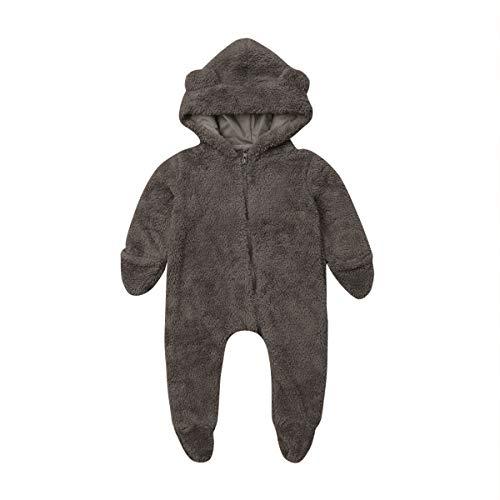 Mameluco Invierno Bebé con Capucha Oso Pijamas Entero Reci