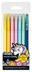 Roller gel medium tip 0.8 mm with pastel ink Ideal for scrapbooking; also writes on photo paper Pocket 6 assorted colours (yellow, orange, pink, purple, light blue, green) + 1 Hybrid Dual Metallic K110 (blue+metallic green)
