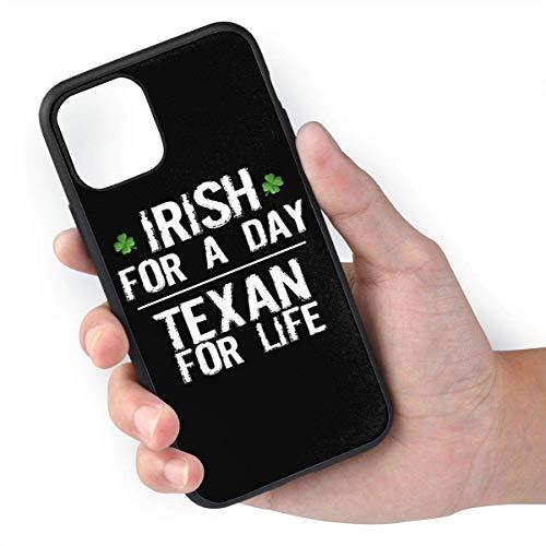 TPU irlandese per un giorno Texan for Life + materiali PC selezionati importati rispettosi dell'ambiente, in grado di impedire agli oggetti duri di lasciare graffi adatti per iPhone 11 Pro
