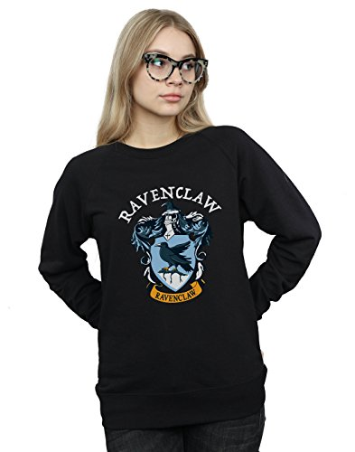 Harry Potter Damen Ravenclaw Crest Sweatshirt Schwarz X-Large