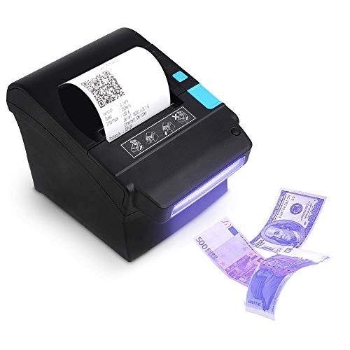 Stampante termica 80mm validatore di banconote 300mm/s, MUNBYN stampante per ricevute di banconote Stampante a matrice per biglietti / con registratore automatico di cassa con USB per POS / ESC