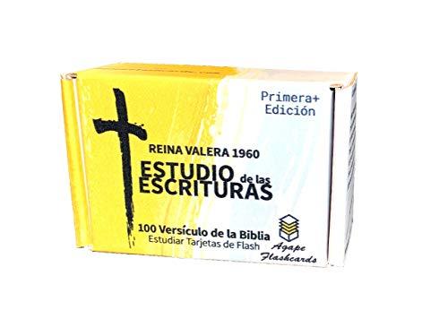 Agape Flashcards - Spanish Bible Scripture Study: Estudio de las Escrituras   Estudiar Tarjetas de Flash   Reina Valera 1960 Edicion   100 de las escrituras mas importantes y utiles de la Biblia