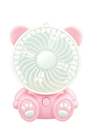 Mini USB per ricaricare la batteria Li-ion ventilatore ventola mini quarti mute ventola desktop, rosa