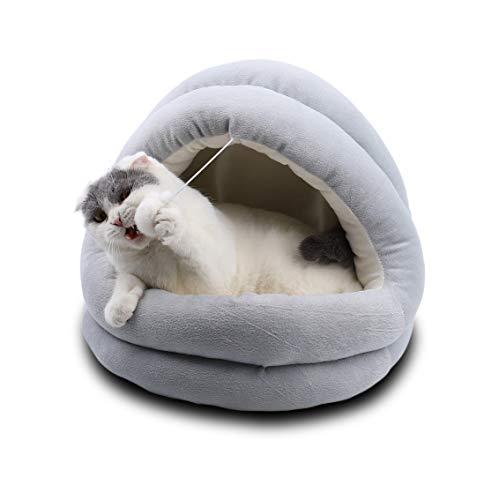 Supremery Niche pour chat avec coussin intérieur doux (lavable) - Niche pour chat ou chien de petite à moyenne taille