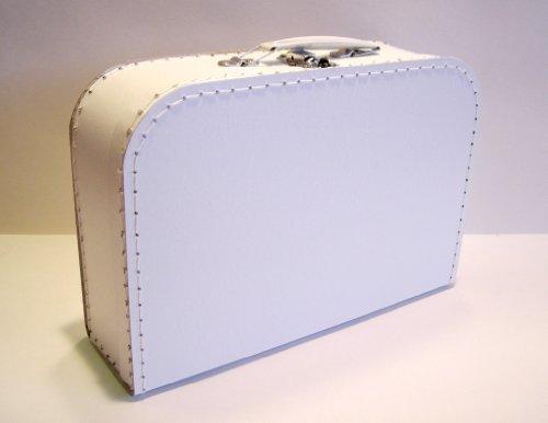 Koffer Pappe, weiß, mittel, 30cm, Pappkoffer