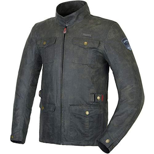 Carreras de Motocicletas Vintga Jacket Chaqueta de Estilo Retro Moto Ropa de Montar Gray XXL