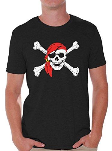Awkward Styles Mens Jolly Roger Skull & Crossbones T Shirts Tops Pirate Flag T Shirts Tops