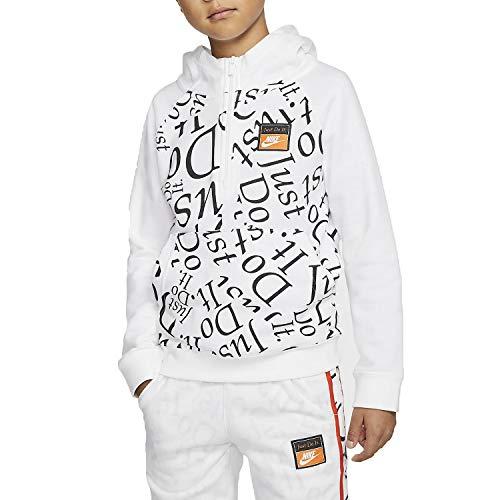 Nike CJ7833 Felpa Junior 100 Bianco,XS