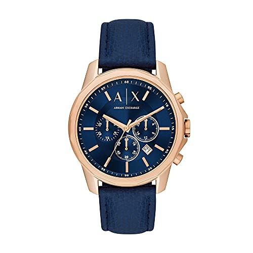 Reloj Armani Exchange para hombre, de acero inoxidable en tono oro rosa y con cronógrafo, AX1723