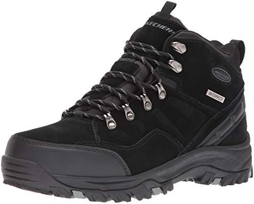 Skechers Men's RELMENT-PELMO Hiking Boot, Black, 8.5 Medium US
