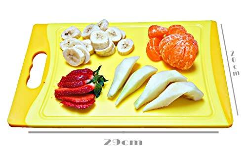 Schneidbrett SET 6 tlg. antibakteriell, 29 x 20 x 0,8 cm, beidseitig verwendbar, 6 Farben - 2