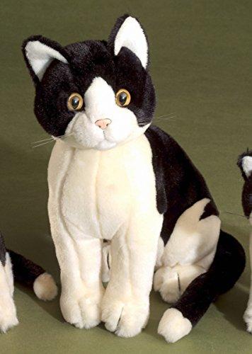 Förster Stofftiere 3480 Katze schwarz/altweiß sitzend 30cm