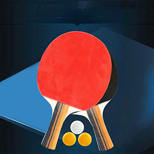 Find Bargain CHQUC Ping Pong Paddle Set Table Tennis Set Ping Pong Bat with 3 Balls Premium Table Te...
