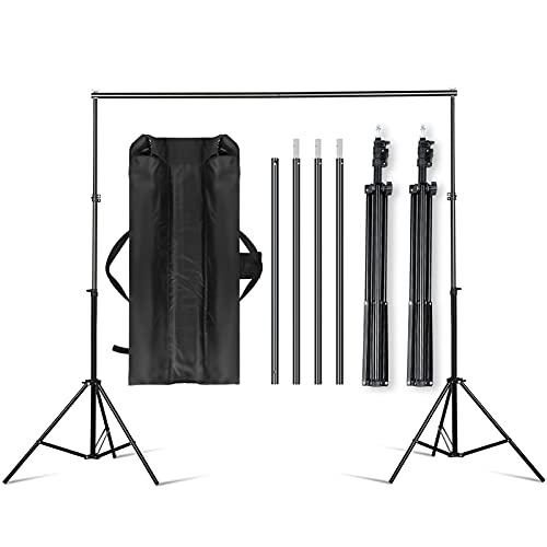 Sistema de soporte de fondo para estudio fotográfico, 2 x 3 m, para estudio y móvil I para fotografía, vídeo y pantalla verde