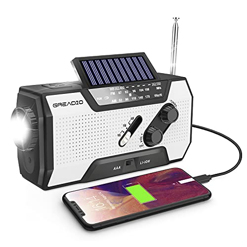 Emergency Weather Solar Crank AM/FM NOAA Radio with Portable...