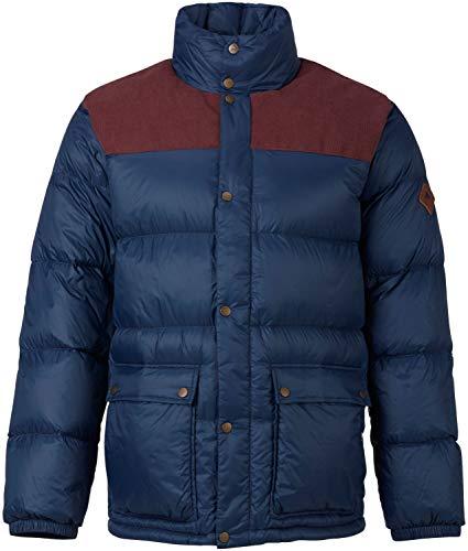 Burton Mens Heritage Collared Down Jacket, Chestnut Cord/Mood Indigo, Large