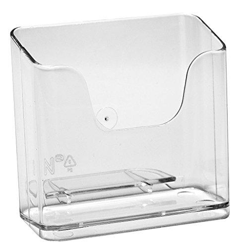 3x Tischaufsteller DIN A6 Hochformat Prospekthalter Prospektständer Flyerständer Postkartenhalter glasklar 3 Stück im Pack