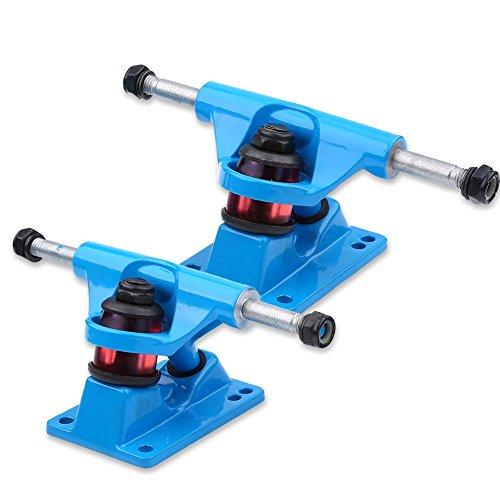 Camiones de Skateboard 2pcs Camiones de Trueno Pulido Ejes de Monopatines ( Color : Azul )
