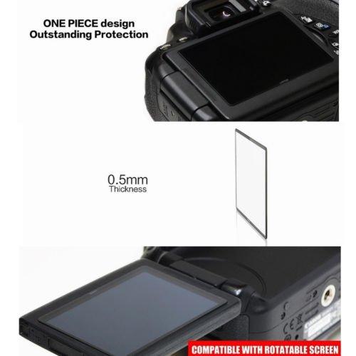 LARMOR GGS Self-Adhesive Optical Glass LCD Screen Protector for Fujifilm X-E2 X-100T Camera