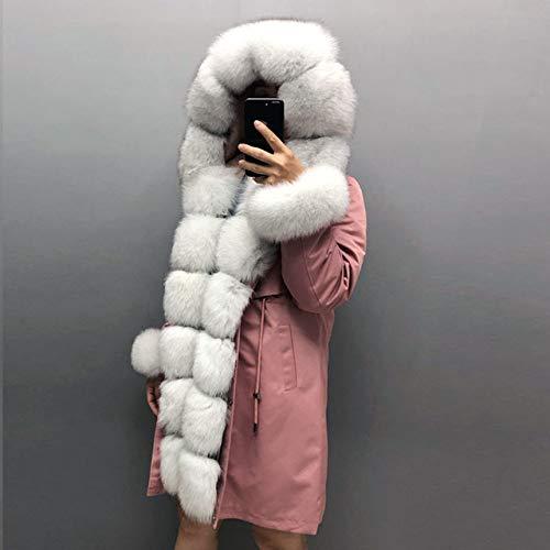 WFE&QFN Chaqueta de plumasChaquetas de Invierno para Mujer Cuello con Capucha Parka Forro Abrigo de Invierno cálido, 4, XXXL