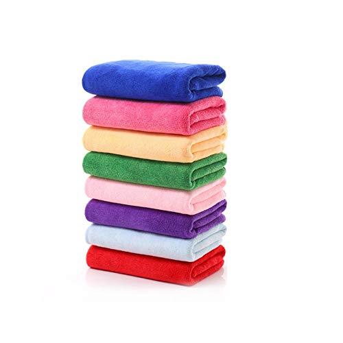 S-L Toallas Limpieza rápida Toalla de Toalla Microfibra Sólido Productos para el hogar Limpieza Toalla Absorbente Lavado de Cara Toalla (Color : Purple, Size : 1pc)