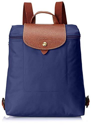 Longchamps Le Pliage Rucksack Nylon Segeltuch Faltbare Backpack (Blau)