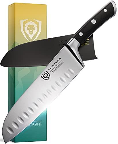 DALSTRONG Santoku Knife - 7' - Gladiator Series - German HC Steel - Sheath Included - NSF Certified