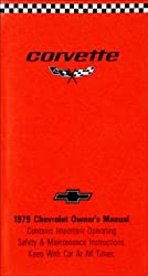 1979 Corvette Owners Manual (with Decal)