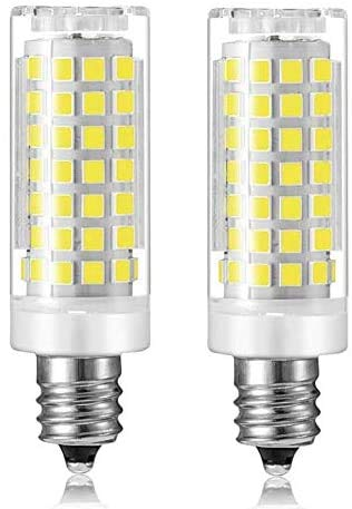 Bonxull E11 LED Bulb, E11 Dimmable, 75W or 100W Equivalent Halogen Replacement Lights, Replaces T4 /T3, 360 Degree Beam Angle, AC110V-130V, for Indoor Decorative Lighting ,2-Pack,Daylight White 6000K