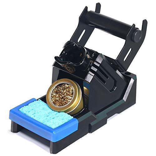 YIHUA X-2 Evolution Advanced Heat-Resistant Soldering Iron Holder & Storage System with Solder Spool Holder, Brass Wool Tip Cleaner, Cleaning Sponge, Protective Edge, 5 Integrated Tip Storage Slots